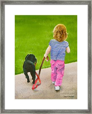 The Leader Framed Print by Karol Wyckoff