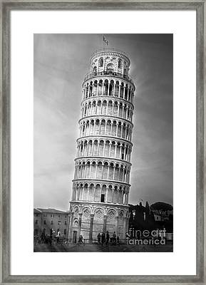 The Leaning Tower Of Pisa Framed Print by Stefano Senise