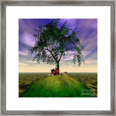 The Learning Tree Framed Print by Walter Oliver Neal