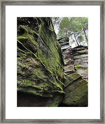 The Ledges In Cuyahoga Valley National Park Framed Print by Dan Sproul