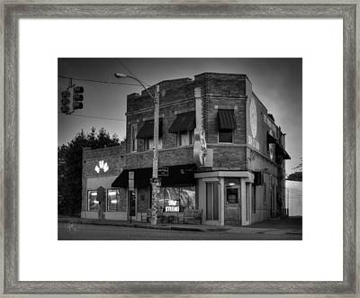 The Legendary Sun Studio 003 Bw Framed Print by Lance Vaughn