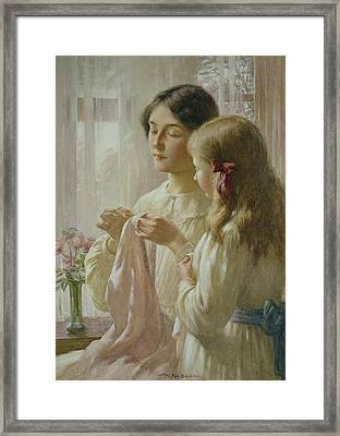The Lesson Framed Print by William Kay Blacklock