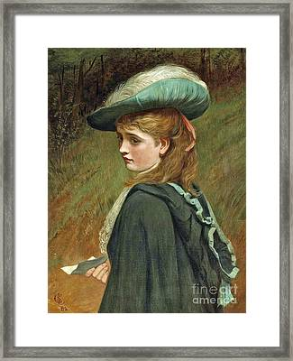 The Letter  Framed Print by Charles Sillem