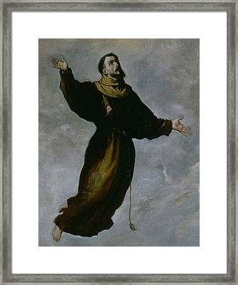 The Levitation Of Saint Francis Framed Print by Francisco de Zurbaran