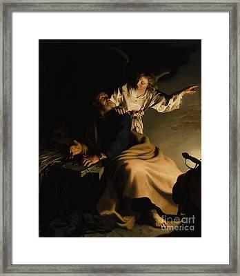 The Liberation Of Saint Peter Framed Print by Abraham Bloemaert