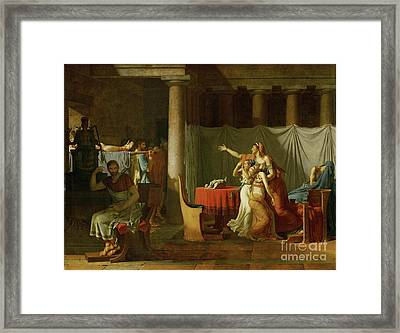 The Lictors Bring To Brutus The Bodies Of His Sons Framed Print by Celestial Images