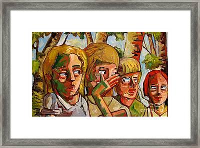 The Lie Framed Print by Charlie Spear