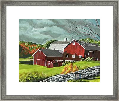 The Light After The Storm Framed Print by Charlotte Blanchard