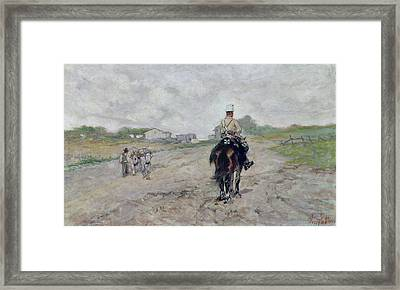 The Light Cavalryman Framed Print by Giovanni Fattori