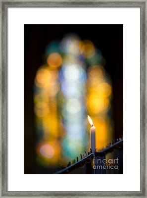 The Light Of Prayer Framed Print by Tim Gainey