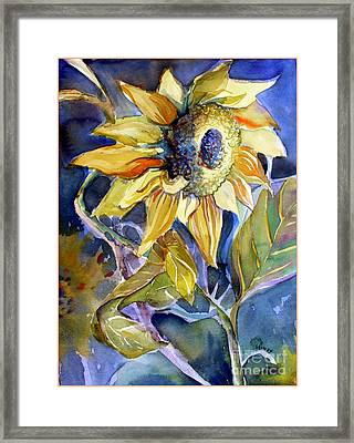 The Light Of Sunflowers Framed Print by Mindy Newman