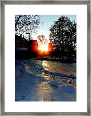 The Lighted Path Framed Print by Karen Wiles