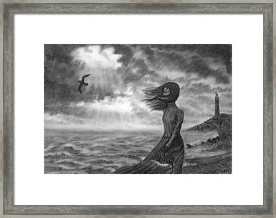 The Lighthouse Keeper's Daughter Framed Print by Philip Harvey