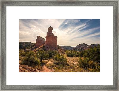 The Lighthouse - Palo Duro Canyon Texas Framed Print by Brian Harig