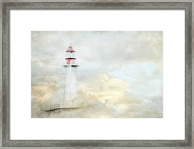 The Lighthouse Framed Print by Theresa Tahara