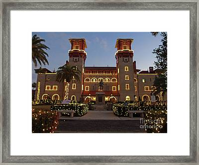 The Lightner Museum Night Of Lights Framed Print by D Hackett