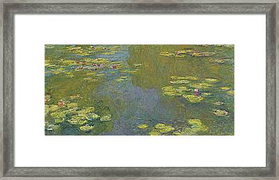 The Lily Pond Framed Print by Claude Monet