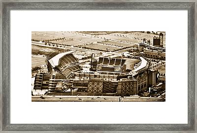 The Linc - Aerial View Framed Print by Bill Cannon
