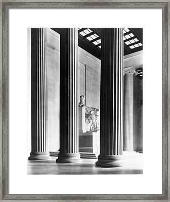 The Lincoln Memorial Framed Print by War Is Hell Store