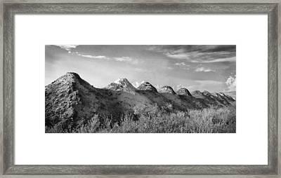 The Line Framed Print by Stephen Mack