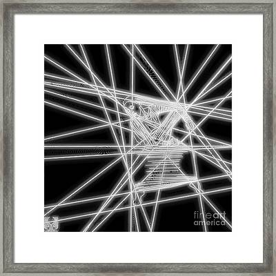 The Lines Of Martha Graham L Bw Tech Framed Print by Dale Crum