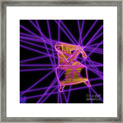 The Lines Of Martha Graham L Tech Framed Print by Dale Crum