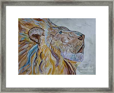 The Lion Call Framed Print by Ella Kaye Dickey