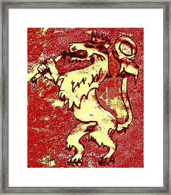 The Lion Of Judah Framed Print by Glenn McCarthy Art and Photography