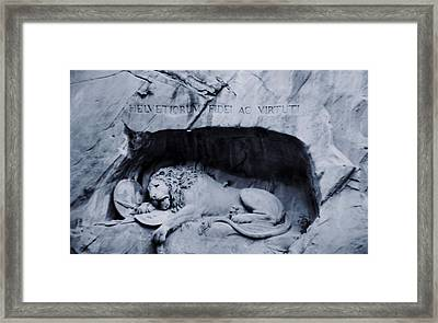 The Lion Of Lucerne Framed Print by Dan Sproul