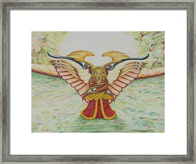 The Lion Framed Print by Rick Ahlvers