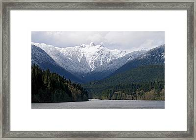 The Lions Mountain Vancouver Framed Print by Pierre Leclerc Photography
