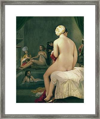 The Little Bather In The Harem Framed Print by Jean Auguste Dominique Ingres