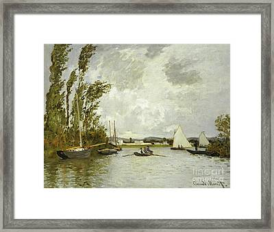 The Little Branch Of The Seine At Argenteuil Framed Print by Claude Monet