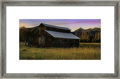 The Little Buckaroo Barn Framed Print by Thomas Schoeller