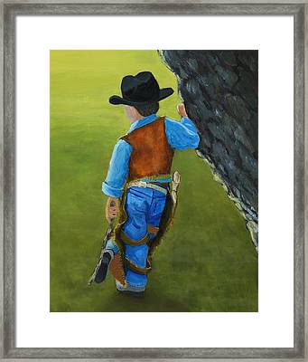The Little Cowboy Framed Print by Karyn Robinson
