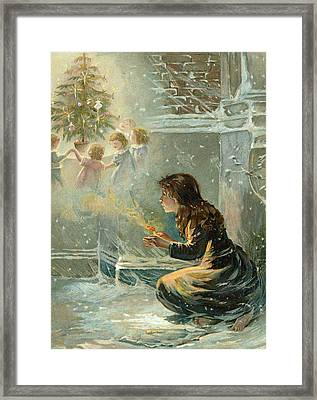 The Little Match Girl Framed Print by English School