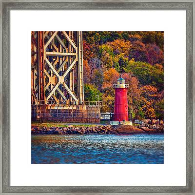 The Little Red Lighthouse Framed Print by Chris Lord