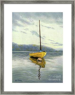 The Yellow Sailboat Framed Print by Sarah Batalka