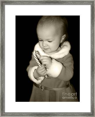 The Littlest Elf Framed Print by Laura Brightwood