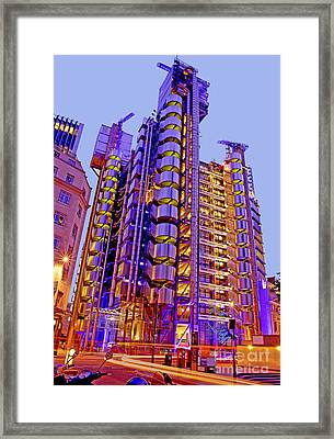 The Lloyds Building In The City Of London Framed Print by Chris Smith