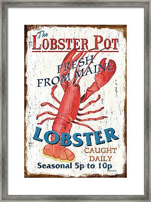 The Lobster Pot Framed Print by Debbie DeWitt