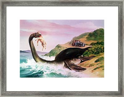 The Loch Ness Monster Framed Print by Gino DAchille