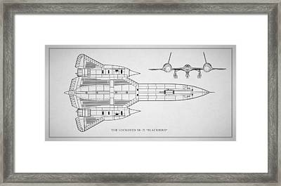 The Lockheed Sr-71 Blackbird Framed Print by Mark Rogan