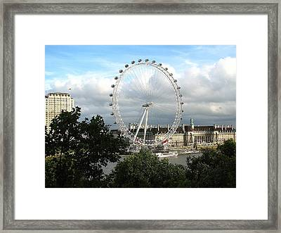 The London Eye Framed Print by Diane Height