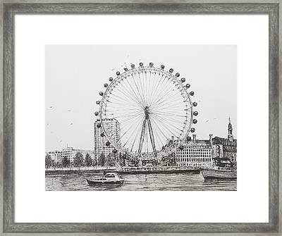 The London Eye Framed Print by Vincent Alexander Booth