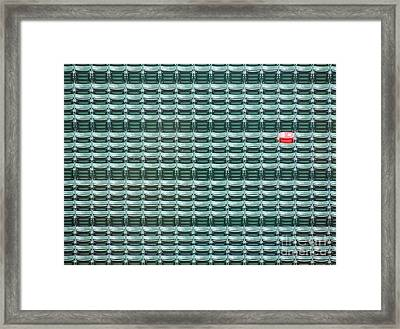 The Lone Red Seat At Fenway Park Framed Print by Keith Ptak