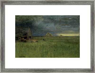 The Lonely Farm Framed Print by George Inness