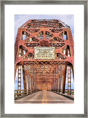 The Long-allen Bridge Framed Print by JC Findley