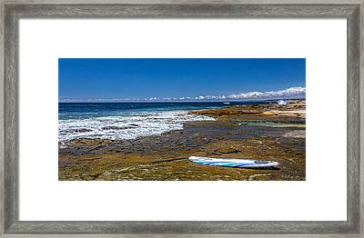 The Long Board Framed Print by Peter Tellone