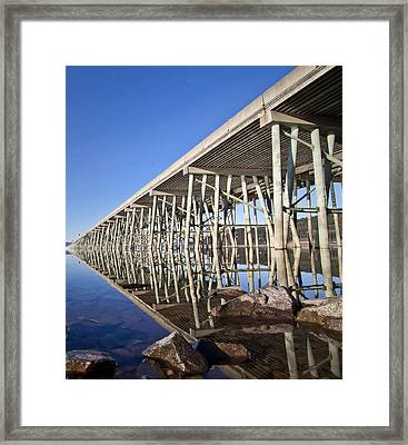 The Long Bridge Framed Print by Albert Seger
